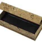 Etui w okleinie z korka   Pudełko zamykane na magnes